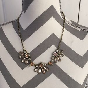 Classy Pink Rhinestone Statement Necklace